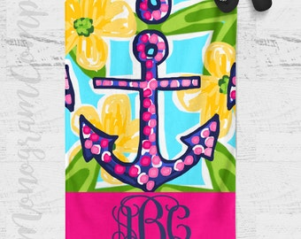Personalized Beach Towel - Preppy Beach Towel - Personalized Towel - Personalized Gift - Monogrammed