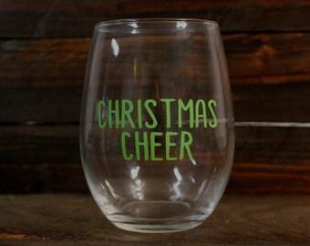 Christmas Cheer Wine Glass