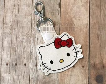 Hello Kitty Snap Tab/ Key Fob, Key Chain