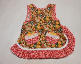 Girls Christmas Slip on Apron fits 2 - 4 years