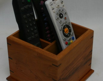 Remote Control Caddy for your TV, sound system, etc. -  Cherry