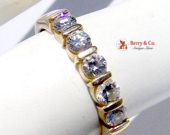 Five Diamond 14K Gold Ring
