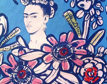 Cactus flower FRIDA Kahlo cotton fabric Alexander Henry