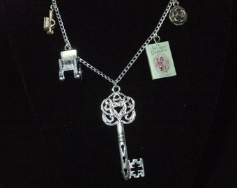 Secret Garden Book Necklace