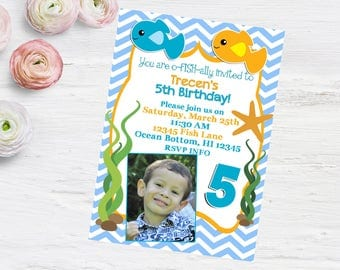 Fishes Birthday Invitation PRINTABLE