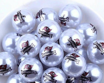 Tampa Bay Buccaneers Beads-Qty: 10