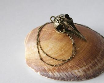 Cráneo de Cuervo / Raven Skull - Collar / Necklace