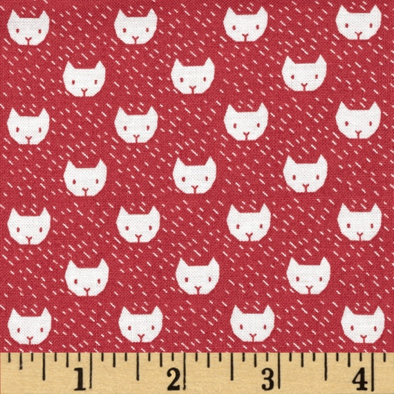 Cat fabric by the yard quilt novelty nursery childrens for Kids fabric by the yard
