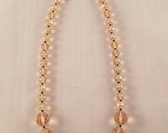 Light Pink and Black Necklace