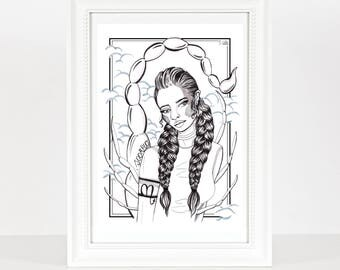 Scorpio Zodiac Print / Star Sign Print / Horoscope Drawing