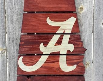Recycled Pallet Alabama Crimson Tide