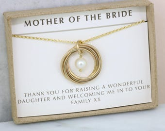 Mother of the bride gift from groom, mother of bride gift from groom, meaningful jewelry for mom - Lilia