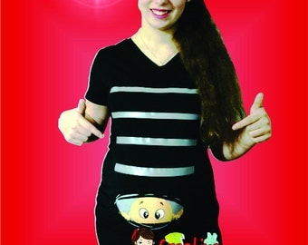 funny maternity shirt peek a boo 251