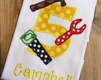 Tool Applique Shirt for Boys