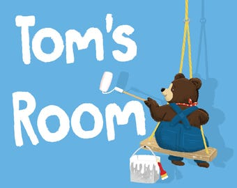 Children's Room name sign