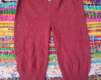Frilly upcycled cashmere mix pants