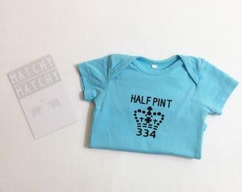 Half Pint baby onesies