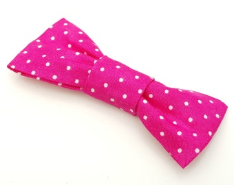 Small Bow Tie - Bright Pink Spot