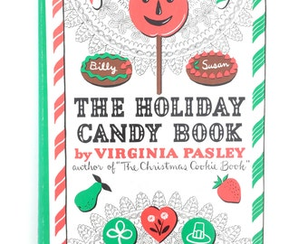 Vintage Holiday Candy Book Cookbook How To Confection Recipes Retro Candies Candymaking Book 1952