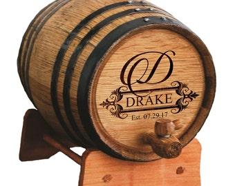 Whiskey Barrel, Personalized Oak Barrel, Wine Barrel, Bourbon Barrel, Whiskey Barrell, Personalized Groomsmen Gift, 1 or 2 or 3 Liter Barrel