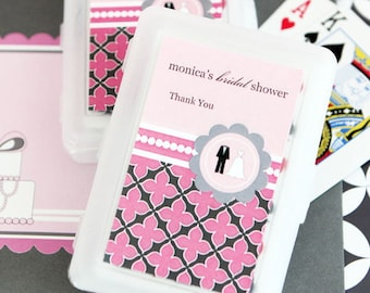 Playing Card Bridal Shower Favors, Personalized Playing Cards, Wedding Favors, Bridal Shower Party, Bachelorette Party Playing Cards(2033)