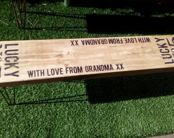 Rustic Industrial Personalised Bench Seat