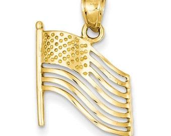 American Flag Pendant (K2805)