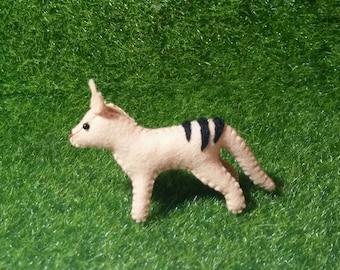 100% Wool Felt Tasmanian Tiger