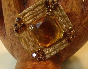 Faux Topaz brooch,  topaz brooch, costume jewelry, Wedding brooch, Faux Topaz