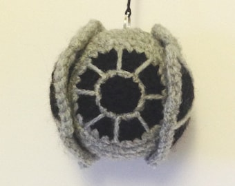 Tie Fighter inspired crochet Baubles for Star Wars fans!