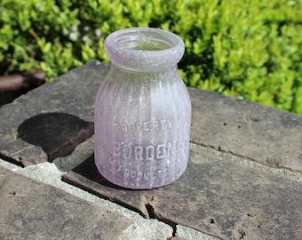 Sea Glass Bottle - Bordens Milk Bottle Lavender