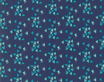 Spectrum Indigo Triangles Yardage SKU# 10862-16 Spectrum by V & Co. for Moda Fabrics