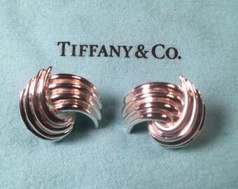 Tiffany Sterling swirl earrings.