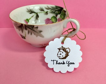 Tea party bridal shower, Mad Hatter tea party, Tea party favors, Mad Hatter Bridal, Tea party baby shower, Tea thank you tags, Tea gift tags