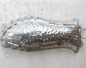 Tin Fish Mold Silver, Jello Mold, Country Chic, French Country, Urban Farmhouse, Farmhouse Chic, USSR, Wall Decor, WTH-1568