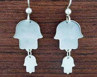 Double Hamsa Earrings