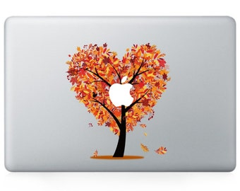 Macbook 13 inch decal sticker magic orange apple tree art for Apple Laptop