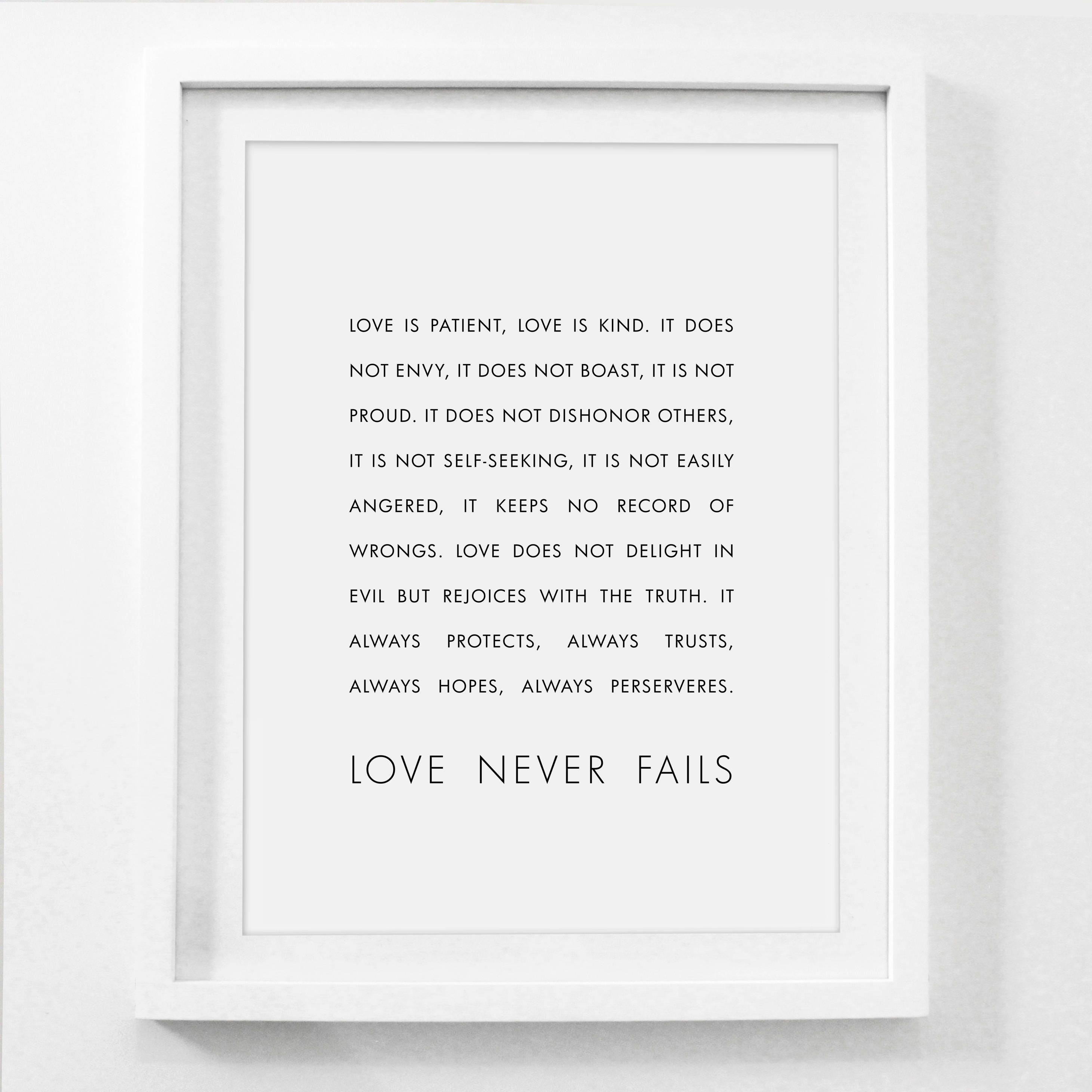 Love Is Patient Love Is Kind Bible Verse Print 1