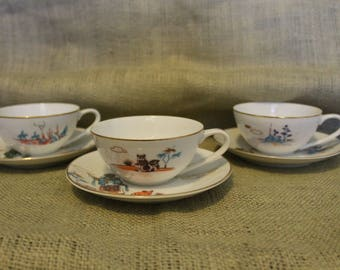 Vintage Knox China cups w/saucers