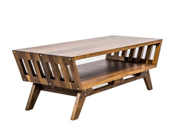 Modern Coffee Table, Coffee Table, Mid century Table, Living room table, Sofa Table, Danish Contemporary, Walnut Table, Console Table