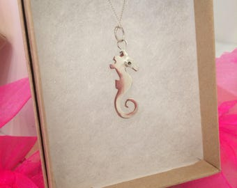Seahorse Pendant - Sterling Silver