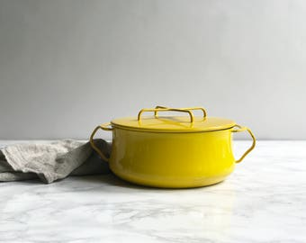 Larger Yellow Enamel Dansk Stock Pot / Dutch Oven Dansk Kobenstyle
