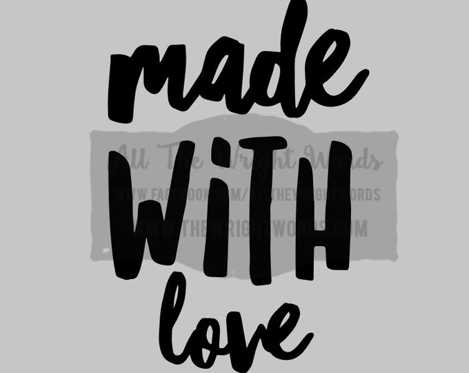 """FREE SHIPPING //  3.3x4.8"""" Made With Love Vinyl Decal - Pressure Cooker Decal - Insta Pot - IP - Decal  - Cooking - Home - Kitchen"""