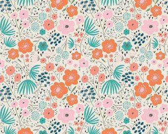 Ava Rose - Floral Cream by Deena Rutter for Riley Blake Designs, 1/2 yard, C5872-Cream