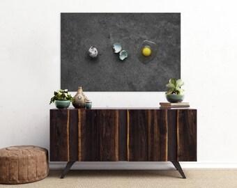quail egg v. three // food photography print // canvas print // kitchen wall art // dining room wall art // rustic wall art // egg print