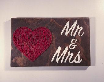 Mr & Mrs String Art