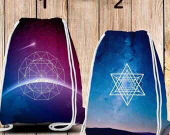 Gym-Bag, Gym Drawstring Bag, Turnbeutel, Sportbeutel, Gymnastikbeutel , Sacred Galaxy 2