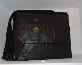 Recycled leather adjustable shoulder strap nice bag
