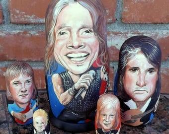 Aerosmith on Russian Nesting Dolls. Steven Tyler
