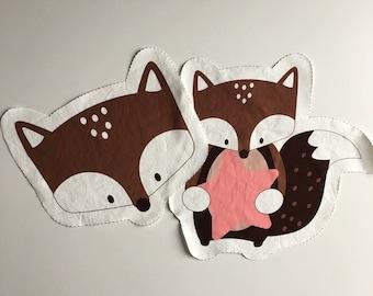 Nursery pillow Fluffy Fox JUST PREORDER Malu